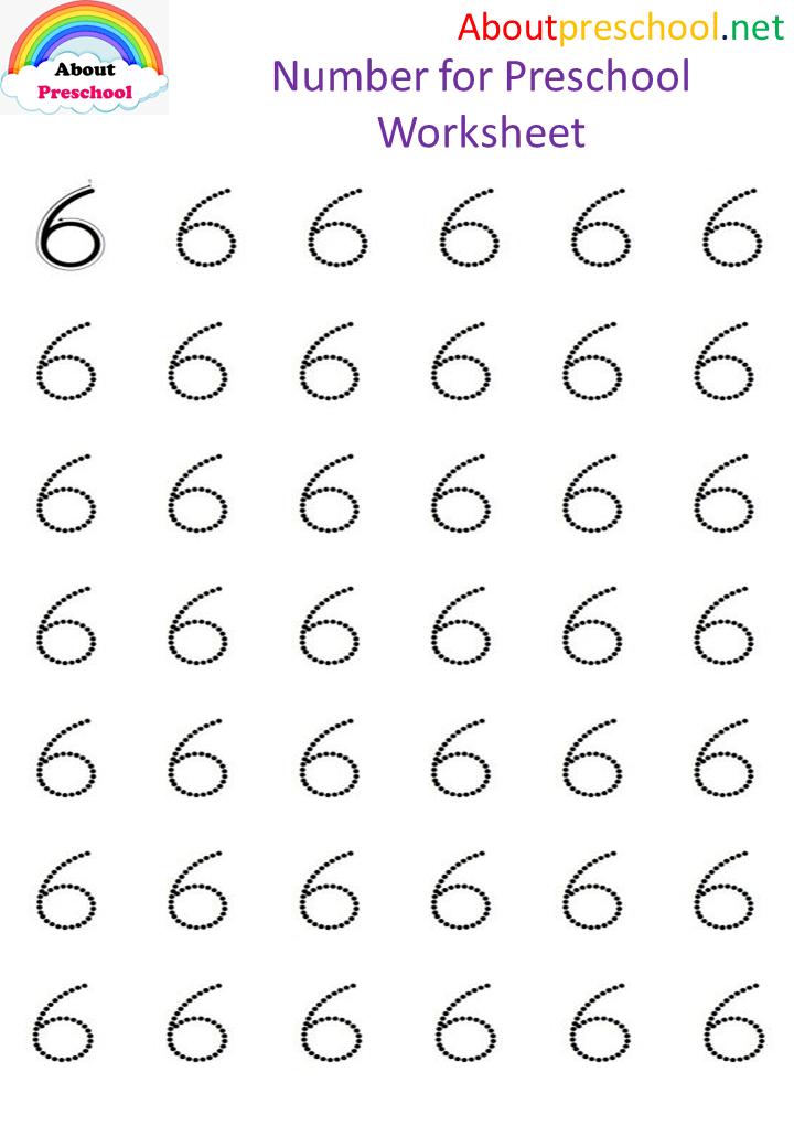 Number for Preschool Worksheet