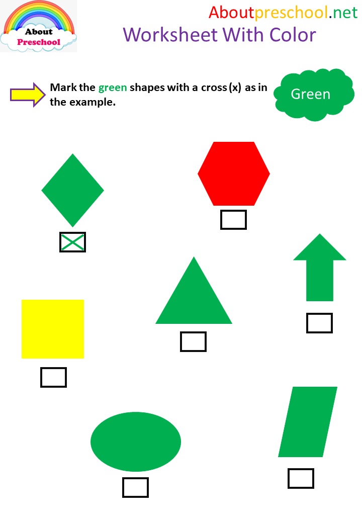 Worksheet With Color
